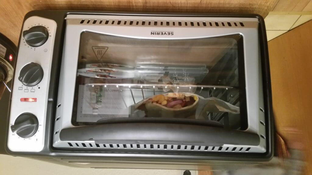 Severin Pizzaofen im Einsatz